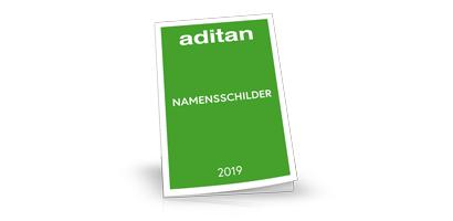 aditan Namensschilder Katalog 2019
