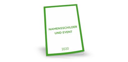 Namensschilder Katalog 2020, neutral