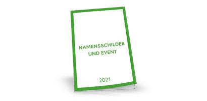 Namensschilder Katalog 2021, neutral