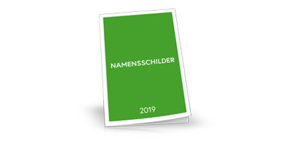 Namensschilder Katalog 2019, neutral